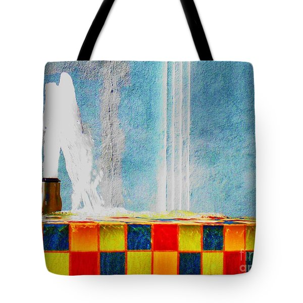 Windy Fountain  Tote Bag