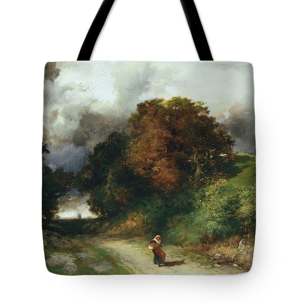 Windy Hilltop Tote Bag by Thomas Moran