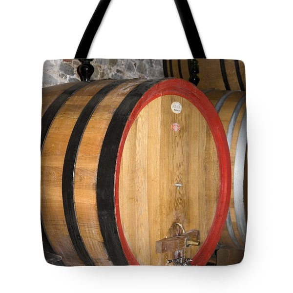Wine Aging Tote Bag by Sally Weigand