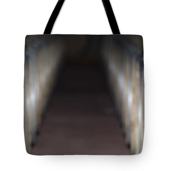Wine Barrels In Line Tote Bag