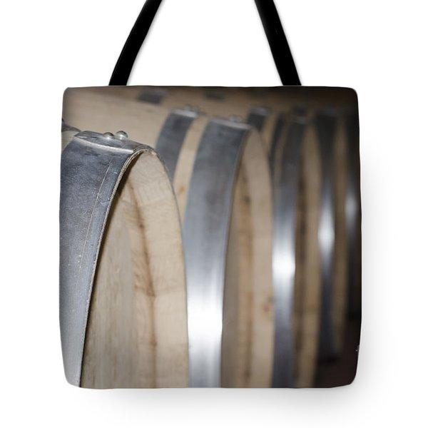 Wine Barrels Tote Bag by Mats Silvan