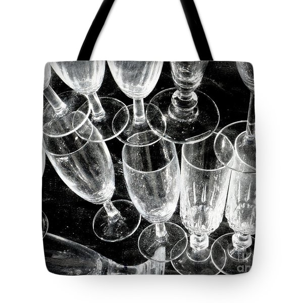 Wine Glasses Tote Bag by Lainie Wrightson
