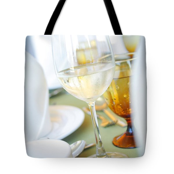 Wineglass Tote Bag by Atiketta Sangasaeng
