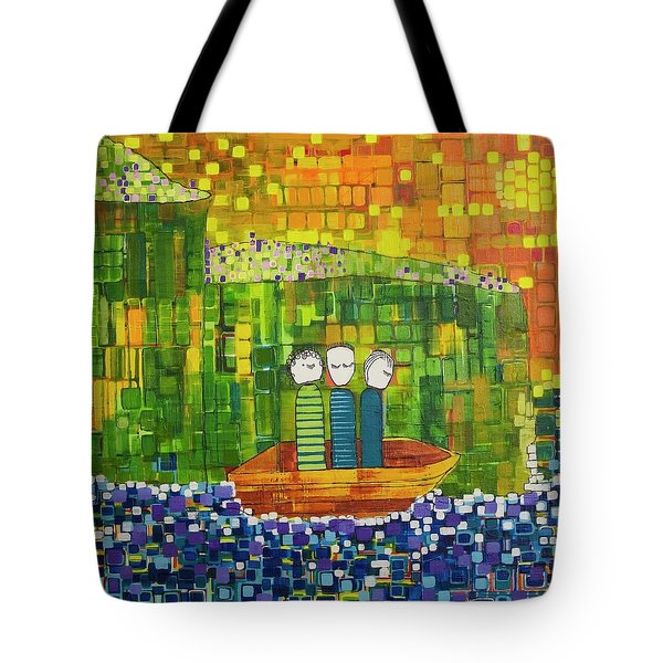 Tote Bag featuring the painting Wink Blink And Nod by Donna Howard