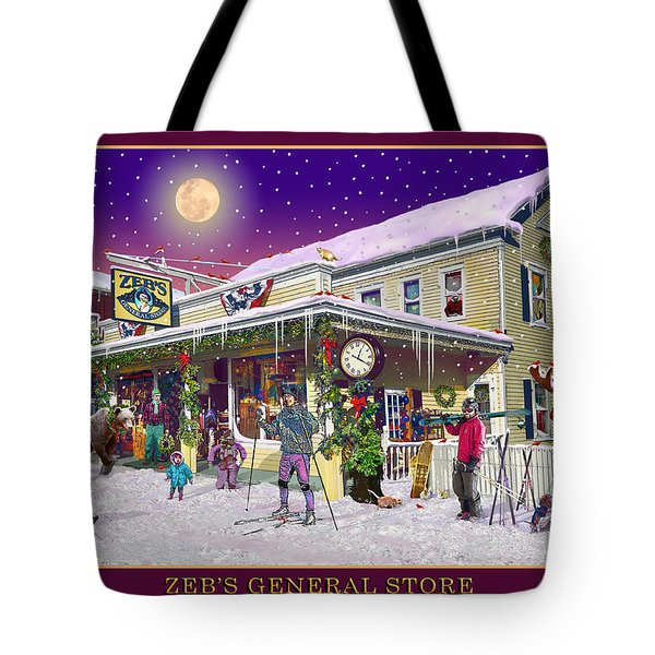 Winter At Zebs General Store In North Conway Nh Tote Bag