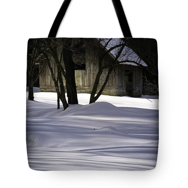 Winter Barn Tote Bag by Rob Travis