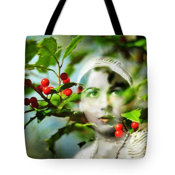 Winter Fancies Tote Bag by Rebecca Sherman