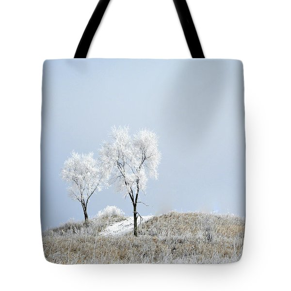 Winter Frost Tote Bag by Julie Palencia