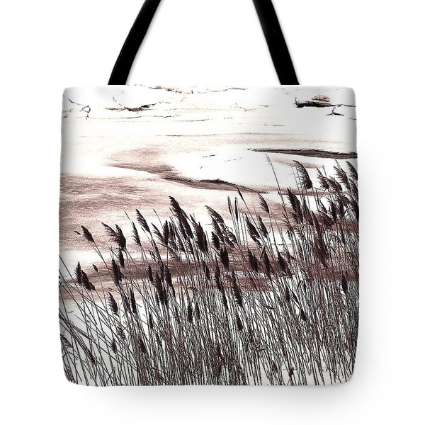 Winter Grasses Tote Bag