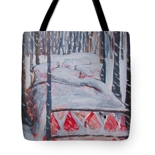 Winter Hybernation Tote Bag