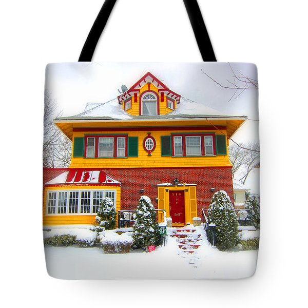 Winter In Ditmas Park Tote Bag by Mark Gilman