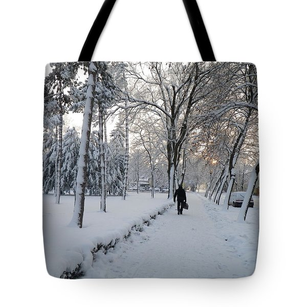 Tote Bag featuring the photograph Winter In Mako by Anna Ruzsan