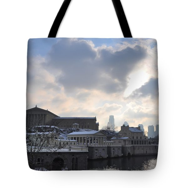 Winter In Philly Tote Bag by Bill Cannon