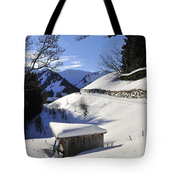 Winter Landscape Tote Bag by Matthias Hauser