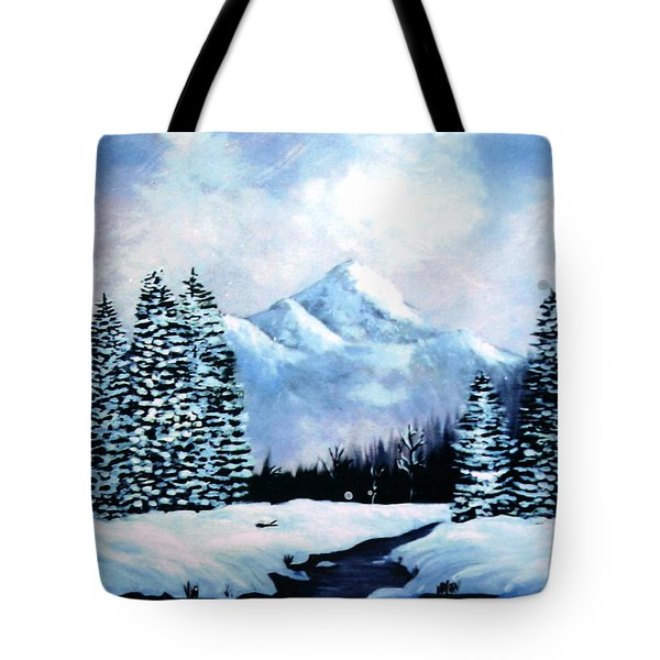 Winter Mountains Tote Bag by Phyllis Kaltenbach