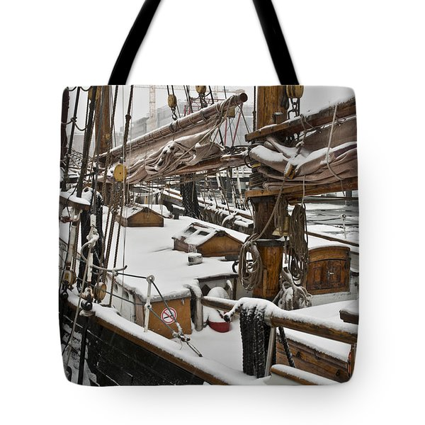 Winter On Deck Tote Bag by Heiko Koehrer-Wagner