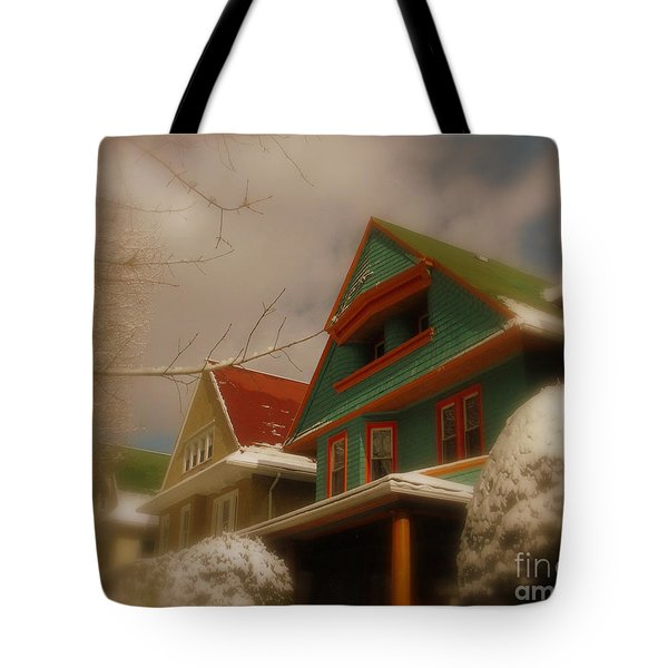Winter On Rugby Road Tote Bag