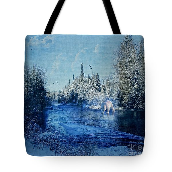 Winter Paradise Tote Bag by Lianne Schneider