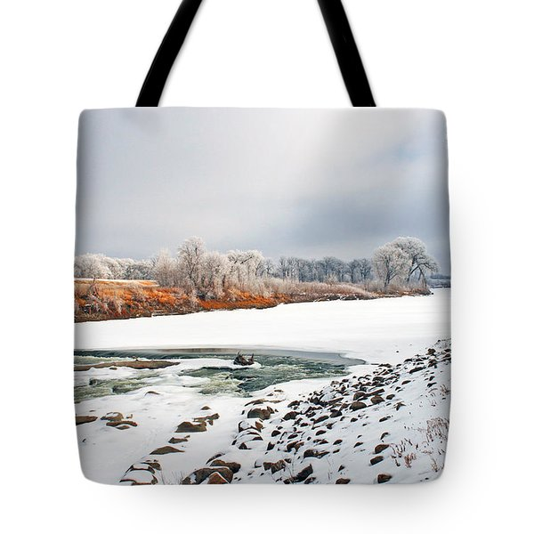 Winter Red River 2012 Tote Bag