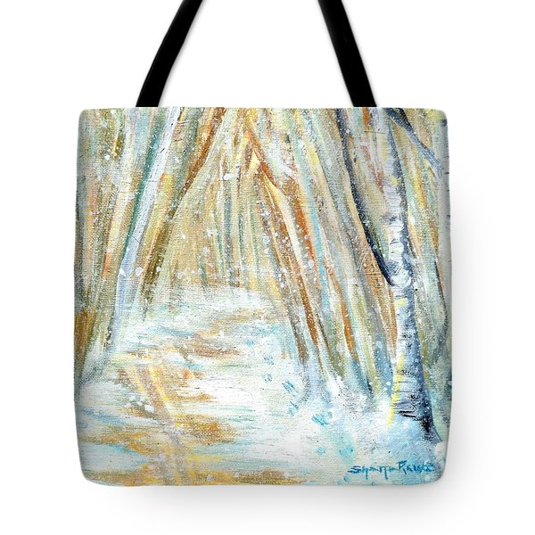 Tote Bag featuring the painting Winter by Shana Rowe Jackson