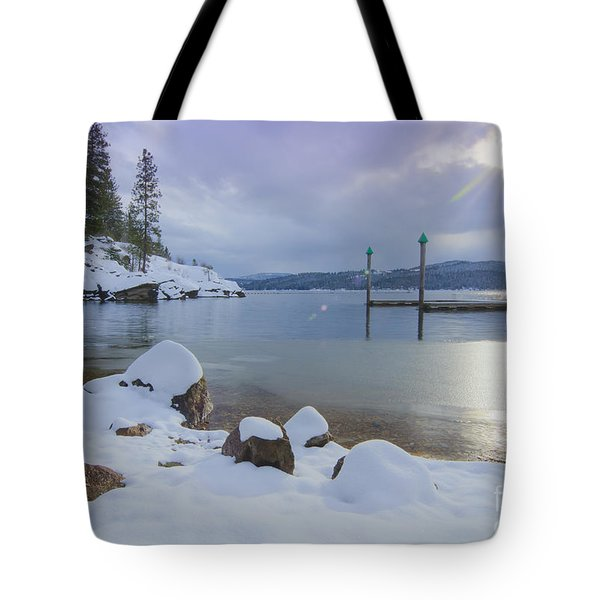 Winter Shore Tote Bag by Idaho Scenic Images Linda Lantzy