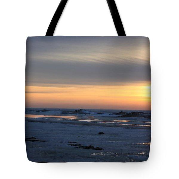 Winter Sleeps Tote Bag