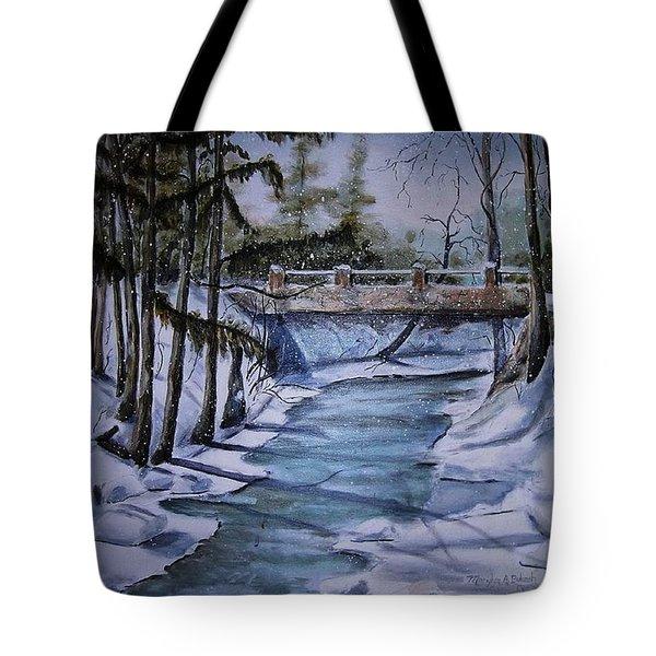 Winter Solitude Tote Bag by Marylyn Wiedmaier