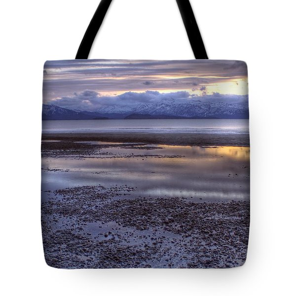Winter Sunset Tote Bag by Michele Cornelius