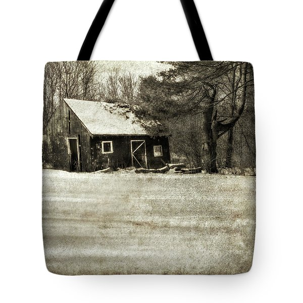Winter Textures Tote Bag