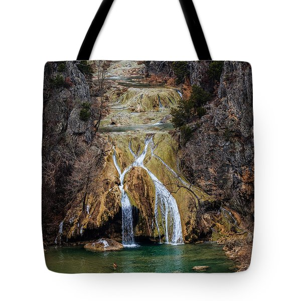 Winter Time At The Falls Tote Bag by Doug Long