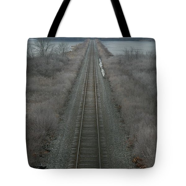 Winter Tracks  Tote Bag by Neal Eslinger