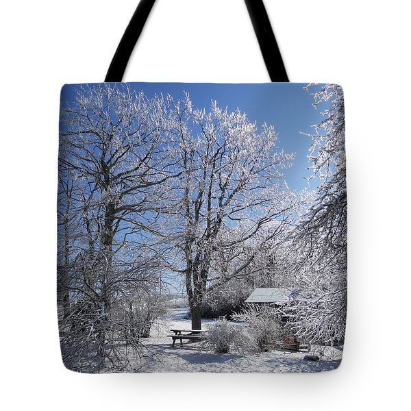 Tote Bag featuring the photograph Winter Wonderland  by Diannah Lynch