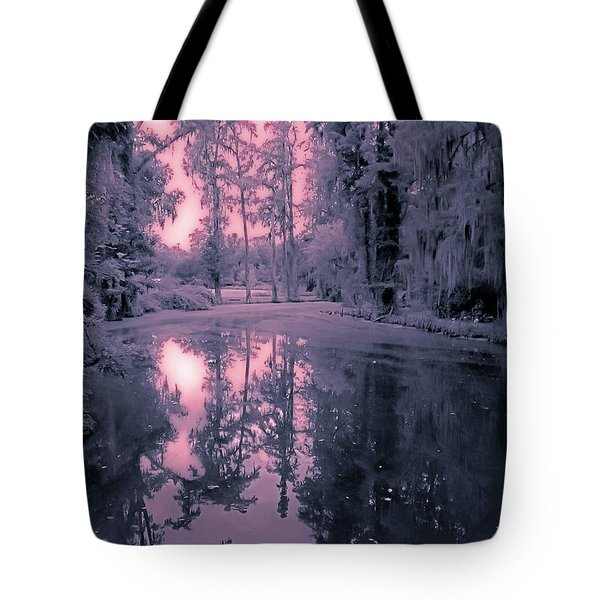 Winterland In The Swamp Tote Bag by DigiArt Diaries by Vicky B Fuller