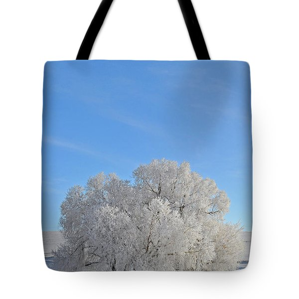 Winter's Coat In Montana's Gallatin Valley Tote Bag