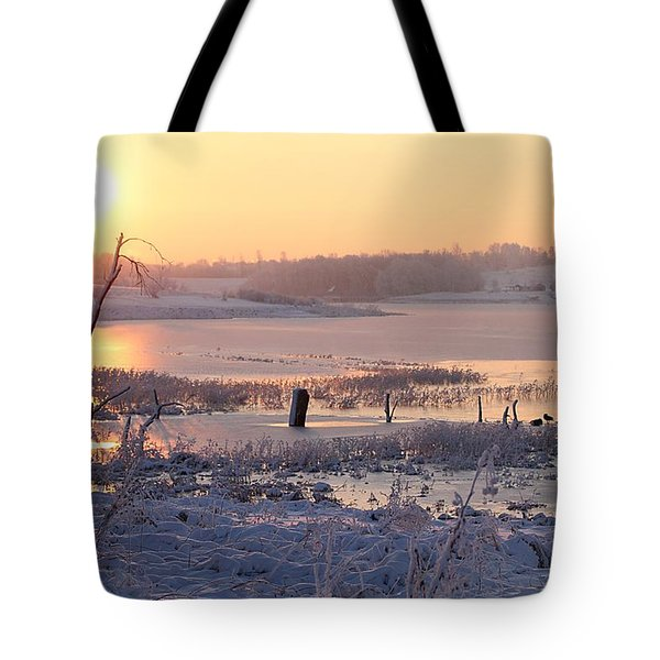 Tote Bag featuring the photograph Winter's Morning by Elizabeth Winter