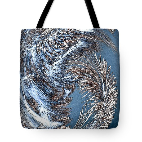 Wintry Pine Needles Tote Bag by Will Borden