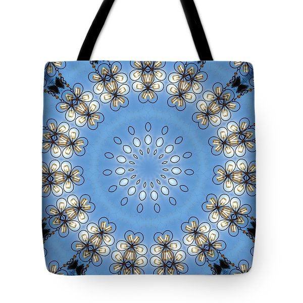 Wire Flowers And Butterflies Tote Bag by Kristie  Bonnewell