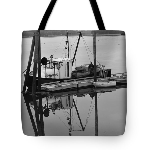 Wiscasset Reflection Tote Bag by Catherine Reusch  Daley