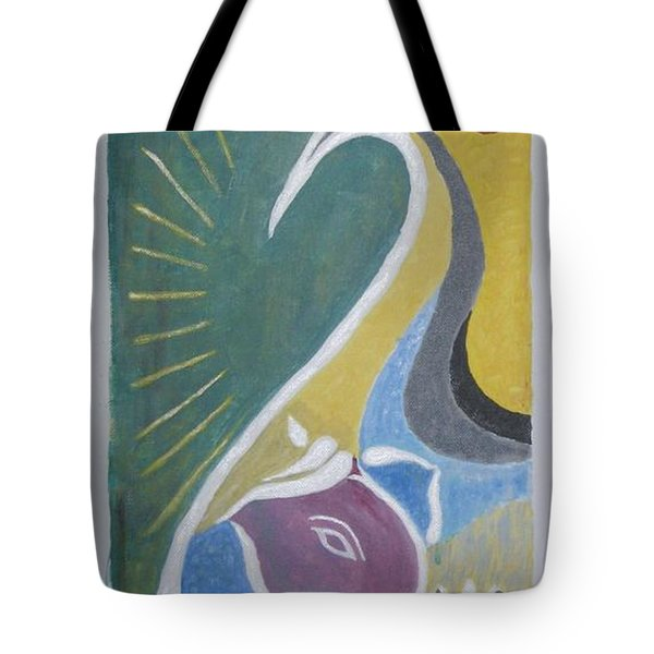 Tote Bag featuring the painting Wisdom And Peace by Sonali Gangane