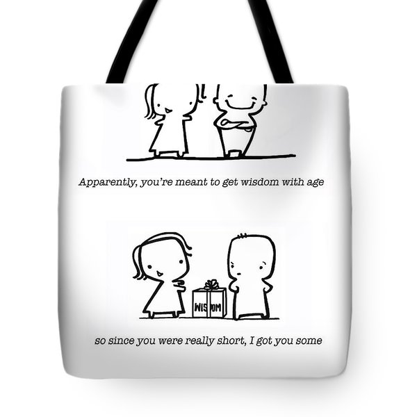Tote Bag featuring the drawing Wisdom by Leanne Wilkes