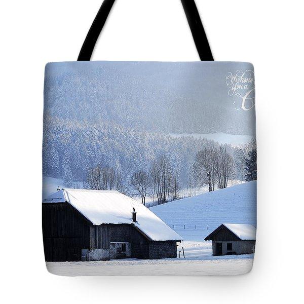 Wishing You A Wonderful Christmas Tote Bag by Sabine Jacobs