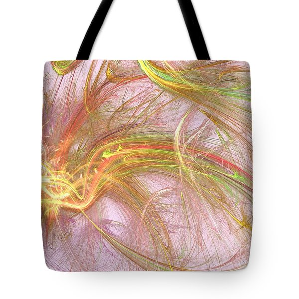 Tote Bag featuring the digital art Wispy Willow by Kim Sy Ok