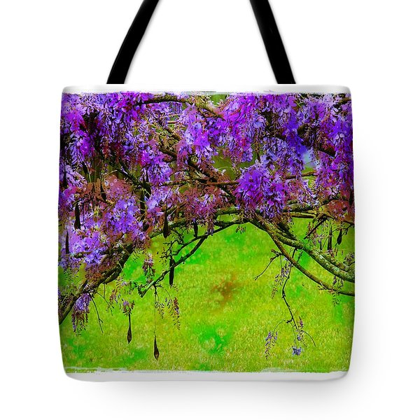 Wisteria Bower Tote Bag by Judi Bagwell