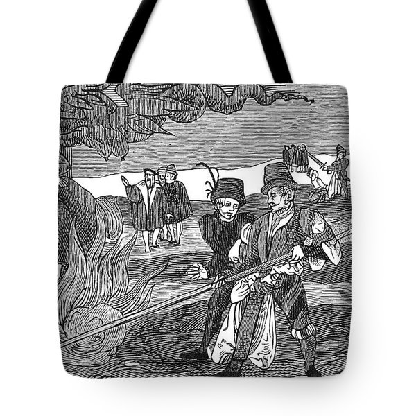 Witch Burning, 1555 Tote Bag by Granger