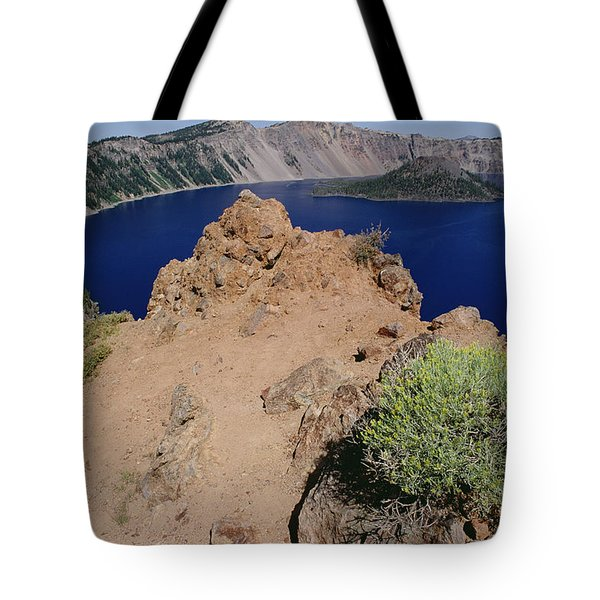 Wizard Island And Lake Shore, Mt Tote Bag by Gerry Ellis