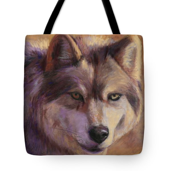 Wolf Study Tote Bag by Billie Colson