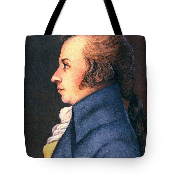 Wolfgang Amadeus Mozart Tote Bag by Granger