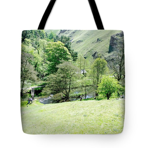 Wolfscote Dale From Gipsy Bank Tote Bag by Rod Johnson