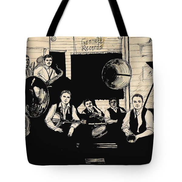 Wolverines Recording Session Tote Bag