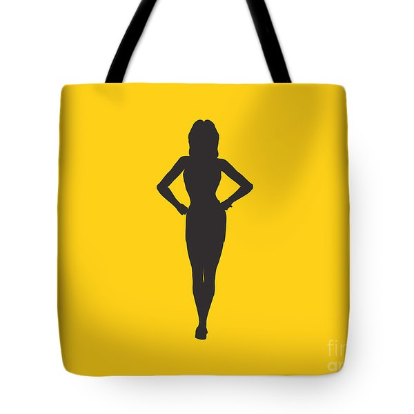 Woman Graphic Tote Bag by Pixel Chimp